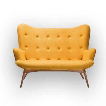 canapé scandinave jaune