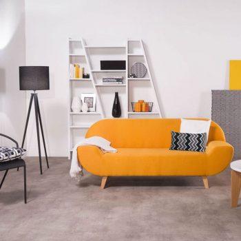 salon chic avec canape jaune