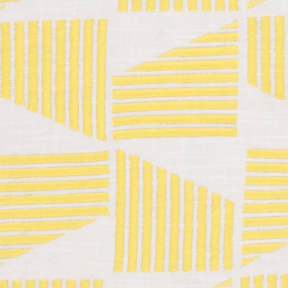 coussin carré brodé, 45 x 45 cm, jaune moutarde Natall