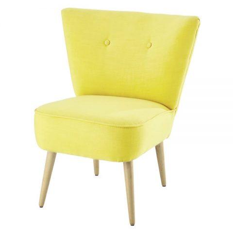 fauteuil jaune paille design