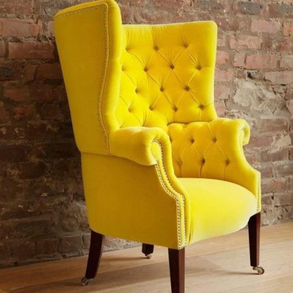 fauteuil à oreilles vintage