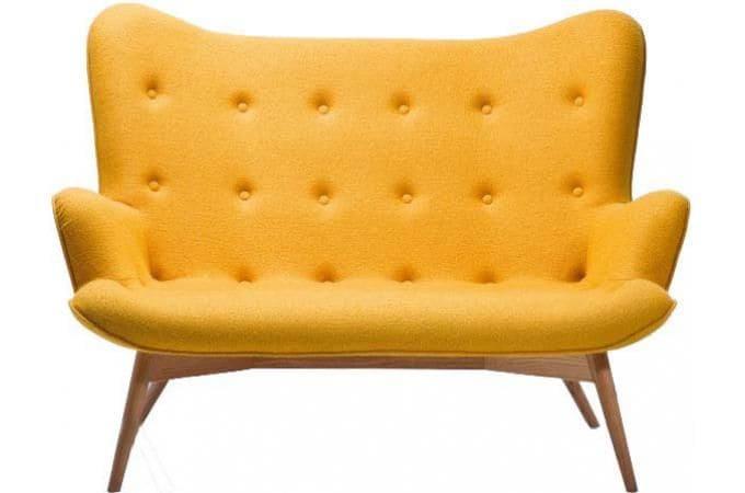 Kare Design Ailes Danges Canapé Places Tissu Jaune X X - Mini canapé