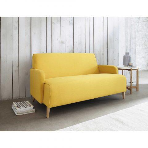 petit canapé jaune