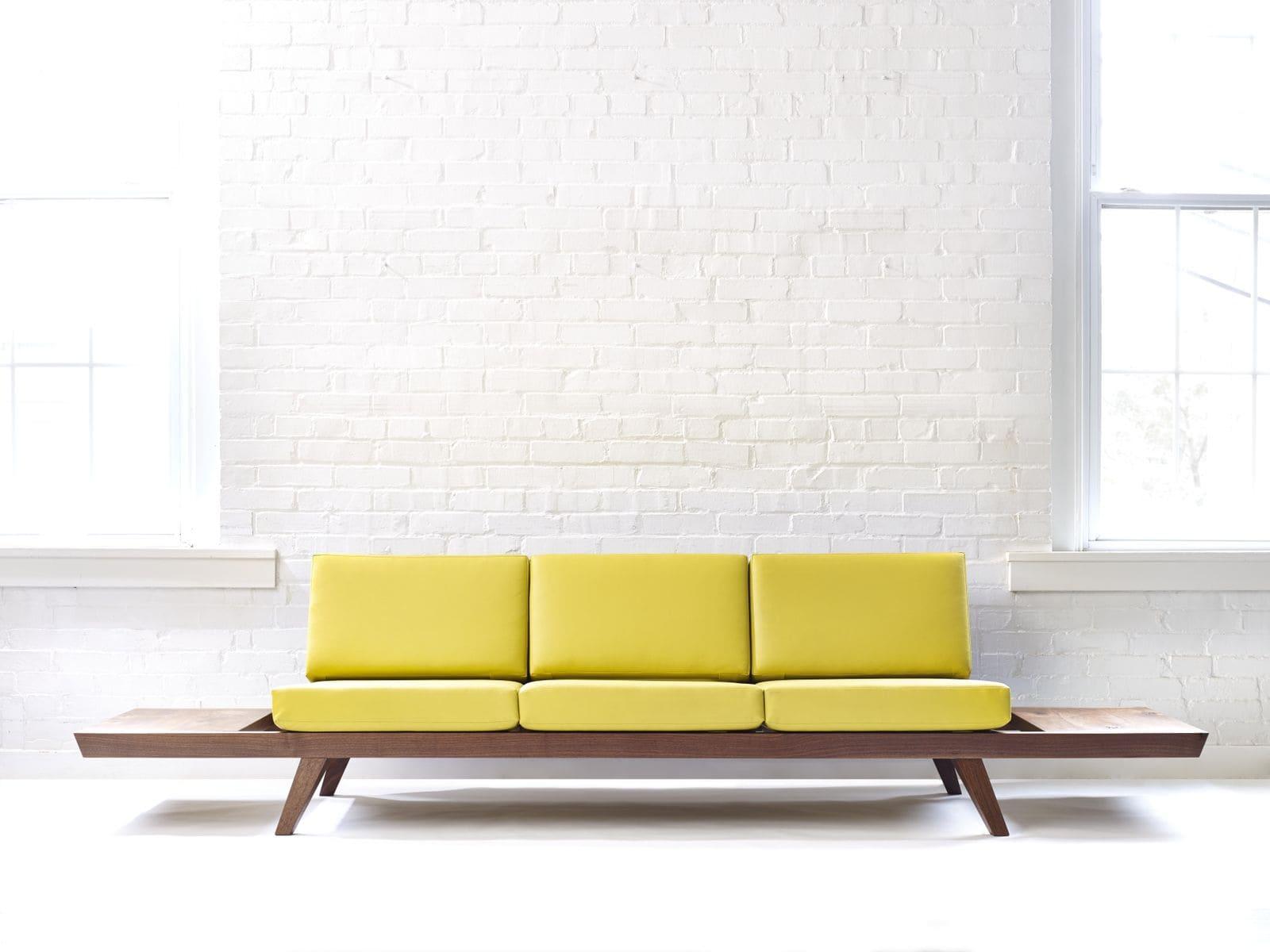canapé jaune design