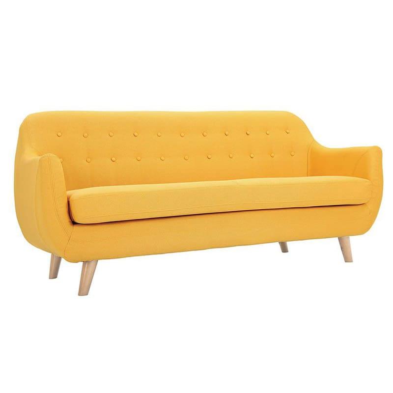 canapé jaune moutarde design