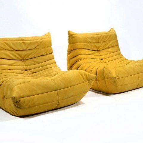 canape togo jaune