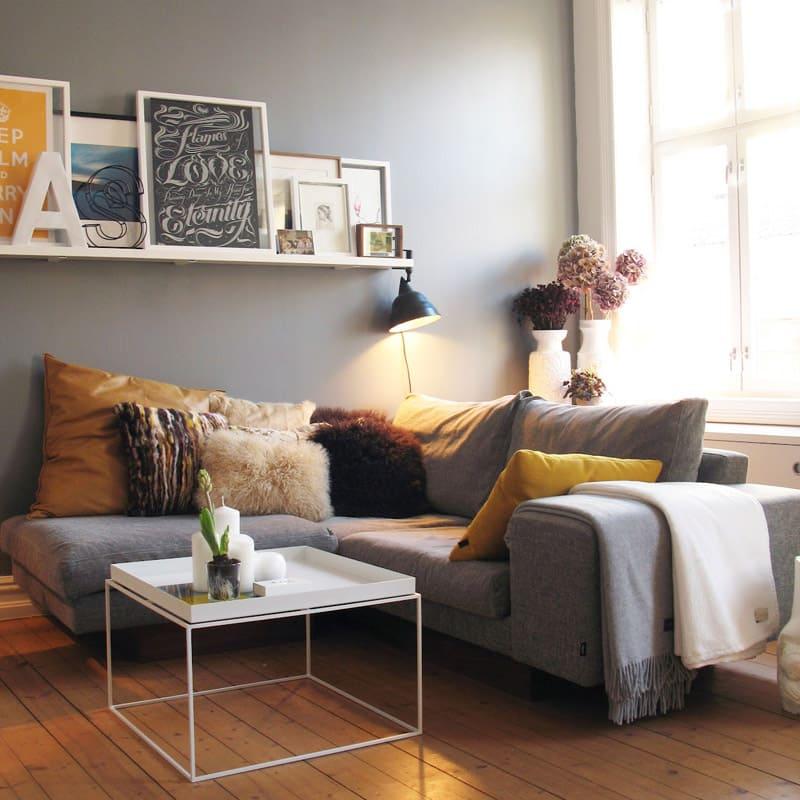 idée de petit salon chic avec mini canapé