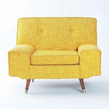 idée de fauteuil jaune en tissu