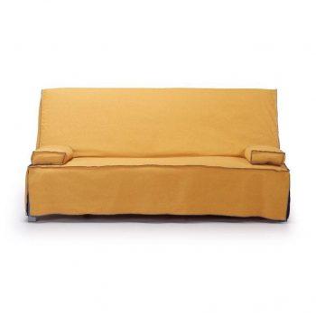 photo de canapé jaune 2 places